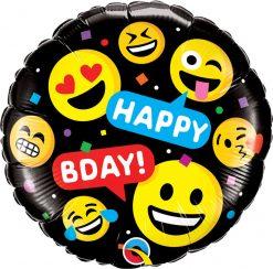 18″ / 46cm Smileys Happy Bday Qualatex #78718