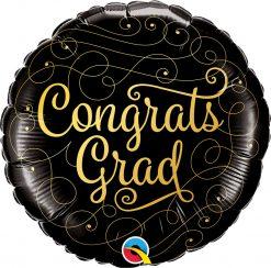 18″ / 46cm Congrats Grad Gold Doodles Qualatex #82277