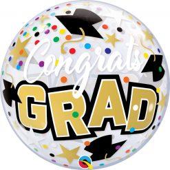 """22"""" / 56cm Congrats Grad Stars & Dots Qualatex #82523"""