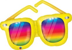42″ / 106cm Rainbow Striped Sunglasses Qualatex #82650