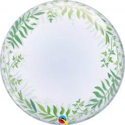 "24"" / 61cm Deco Bubble Elegant Greenery Qualatex #85832"