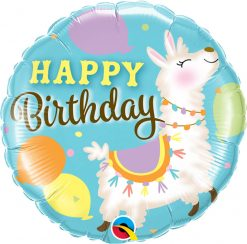 18″ / 46cm Birthday Llama Qualatex #85905