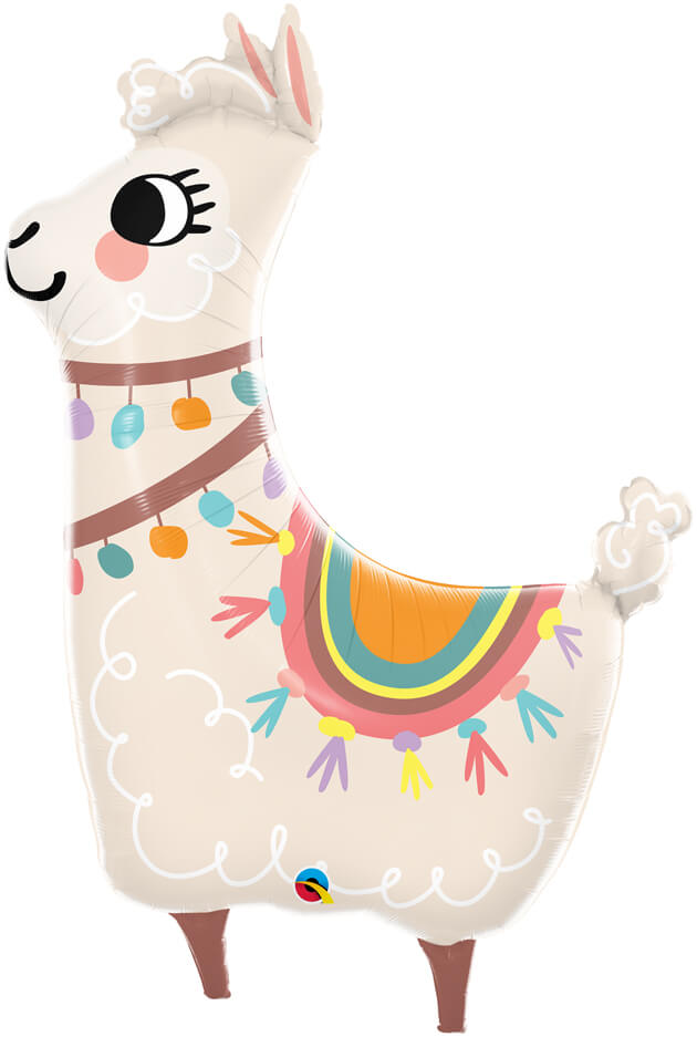 45″ / 114cm Loveable Llama Qualatex #85914