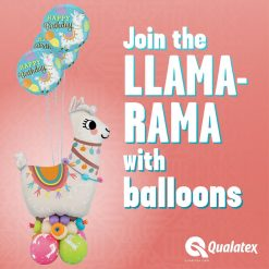 45″ / 114cm Loveable Llama Qualatex #85914