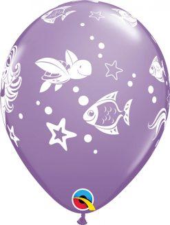 "11"" / 28cm Merry Mermaid & Friends Asst of Spring Lilac, Wintergreen, Rose Qualatex #86023"
