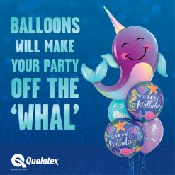 40″ / 101cm Party Narwhal Qualatex #87956