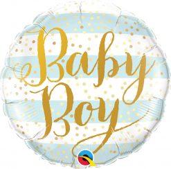 18″ / 46cm Baby Boy Blue Stripes Qualatex #88001