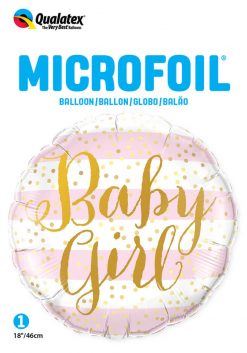 18″ / 46cm Baby Girl Pink Stripes Qualatex #88004