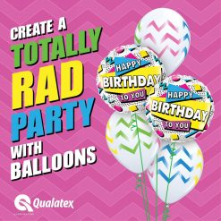18″ / 46cm Happy Birthday To You 90's Retro Qualatex #88063