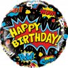18″ / 46cm Birthday Super Hero Black Qualatex #88148