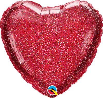 18″ / 46cm Glittergraphic Red Qualatex #88954