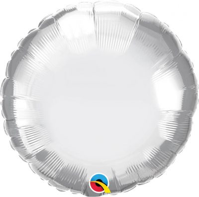 "18"" / 46cm Round Chrome® Silver Qualatex #89982"