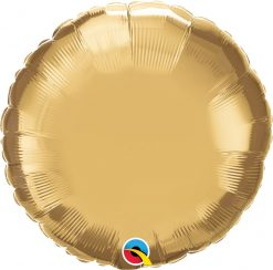 "18"" / 46cm Round Chrome® Gold Qualatex #89998"