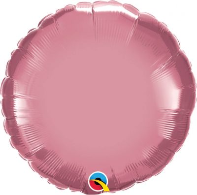 "18"" / 46cm Round Chrome® Mauve Qualatex #90024"