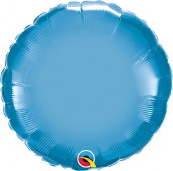 "18"" / 46cm Round Chrome® Blue Qualatex #90032"