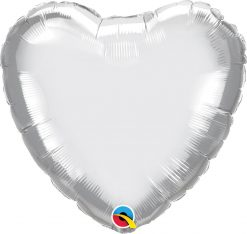 18″ / 46cm Heart Chrome® Silver Qualatex #90034