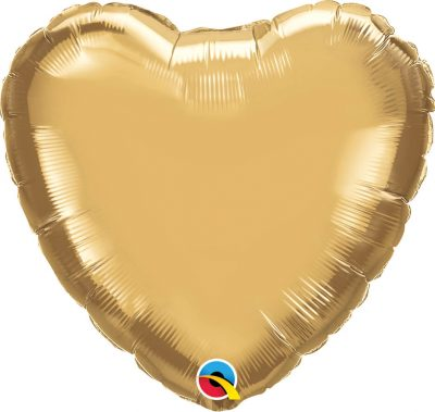 18″ / 46cm Heart Chrome® Gold Qualatex #90039
