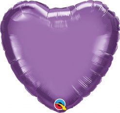 18″ / 46cm Heart Chrome® Purple Qualatex #90048