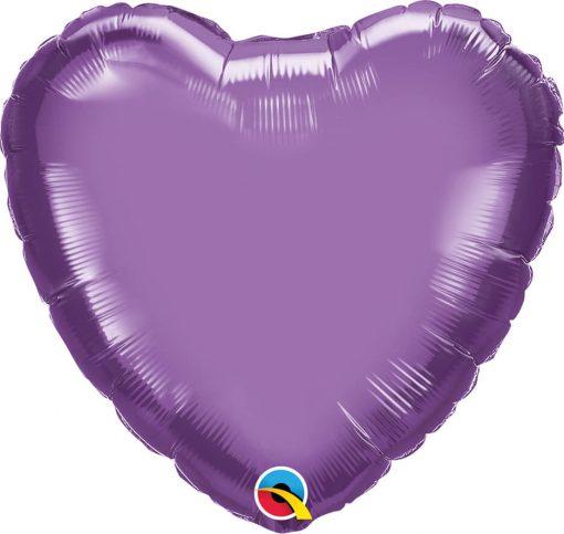 18″ / 46cm Heart Chrome® Purple Qualatex #90048
