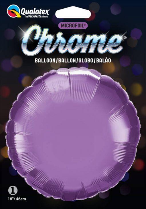 "18"" / 46cm Round Chrome® Purple Qualatex #90025"