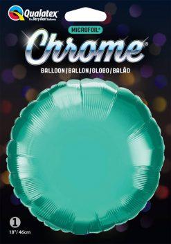 "18"" / 46cm Round Chrome® Green Qualatex #90033"