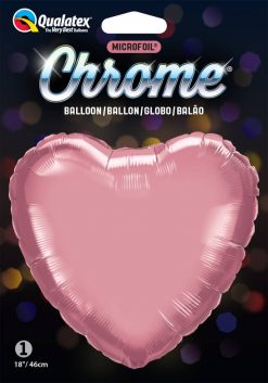 18″ / 46cm Heart Chrome® Mauve Qualatex #90047
