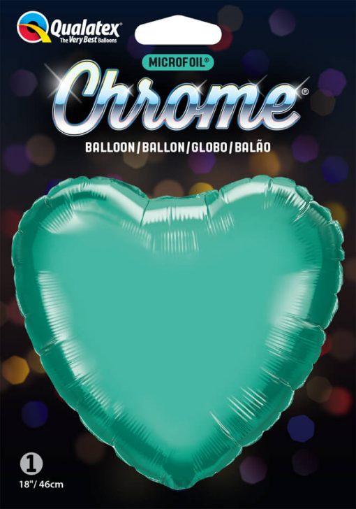 18″ / 46cm Heart Chrome® Green Qualatex #90056