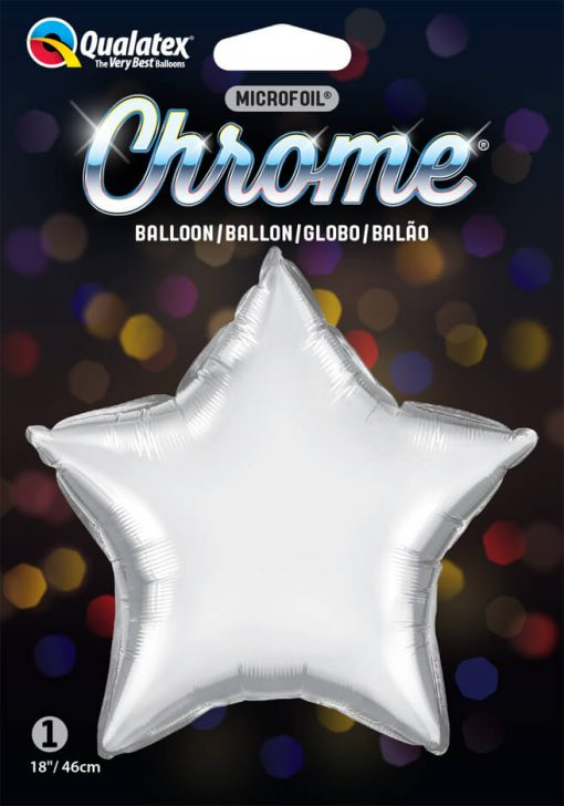 "20"" / 51cm Star Chrome® Silver Qualatex #90057"