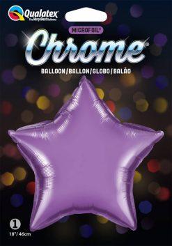 "20"" / 51cm Star Chrome® Purple Qualatex #90079"