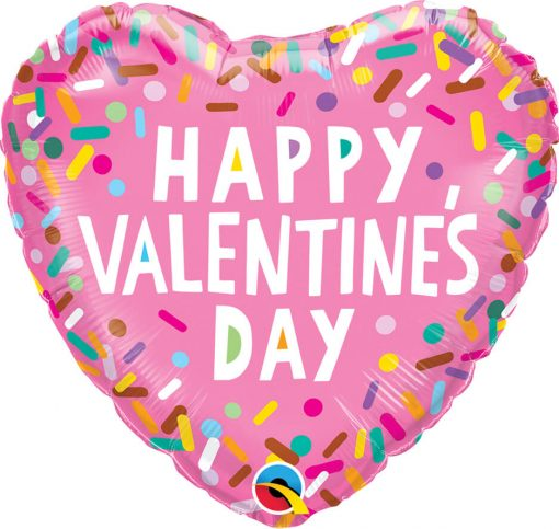 18″ / 46cm Valentine's Sprinkles Qualatex #97155