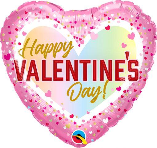 18″ / 46cm Valentine's Confetti Ombre Qualatex #97162