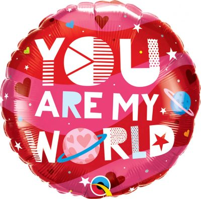 18″ / 46cm You Are My World Qualatex #97171