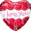 18″ / 46cm I Love You Doodle Loops Qualatex #97174