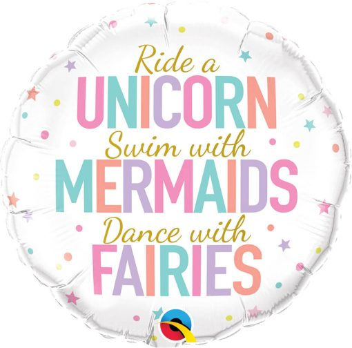 18″ / 46cm Unicorn/Mermaids/Fairies Qualatex #97402