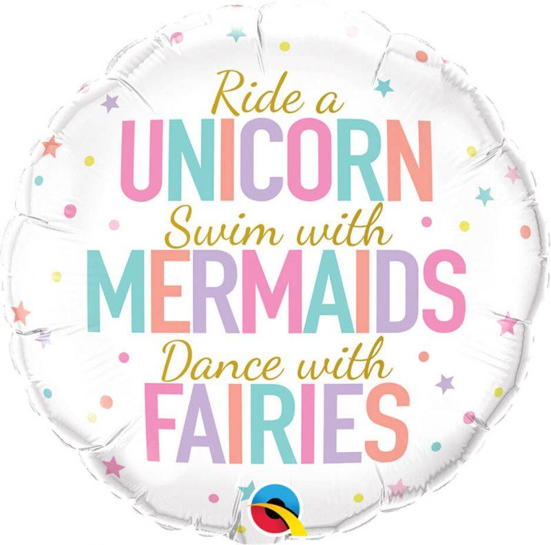 18″ / 46cm Unicorn/Mermaids/Fairies Qualatex #97402