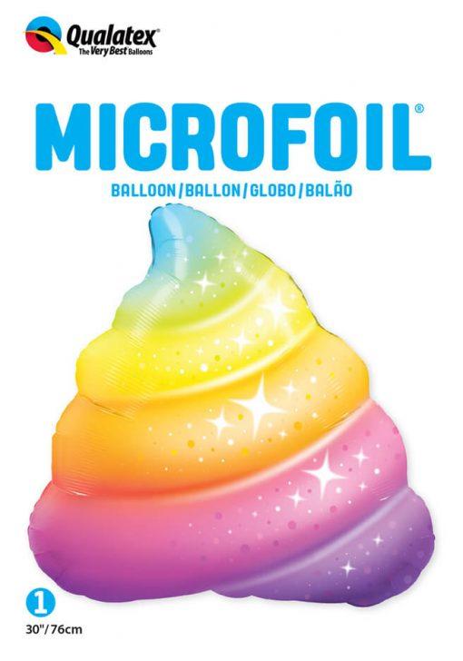 30″ / 76cm Rainbow Poop Sparkles Qualatex #97534
