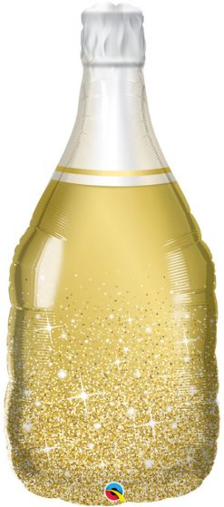 "39"" / 99cm Golden Bubbly Wine Bottle Qualatex #98219"