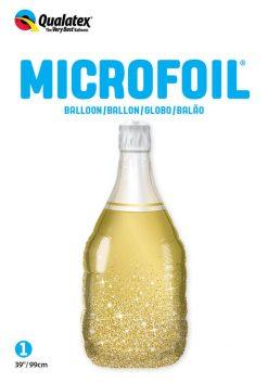 "39"" / 99cm Golden Bubbly Wine Bottle Qualatex #98219"