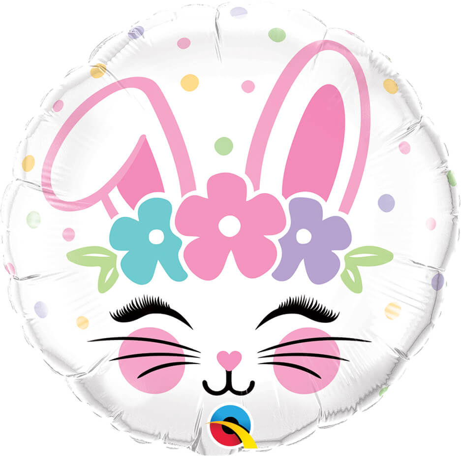 18″ / 46cm Bunny Face Qualatex #98337