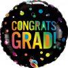 18″ / 46cm Congrats Grad Ombre Dots Qualatex #98488
