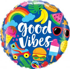 "18"" / 46cm Good Vibes Qualatex #98497"