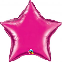 "20"" / 51cm Solid Colour Star Magenta Qualatex #99337"