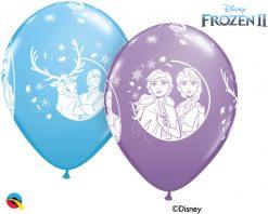"""12"""" / 30cm 6szt Disney Frozen 2 Asst of Pale Blue, Spring Lilac Qualatex #99713"""