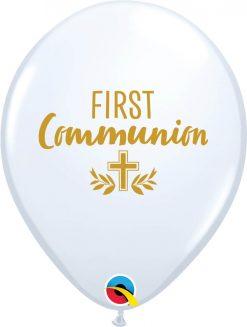 "11"" / 28cm First Communion Cross White Qualatex #10645-1"