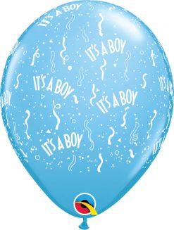 "11"" / 28cm It's A Boy-A-Round Pale Blue Qualatex #11754-1"