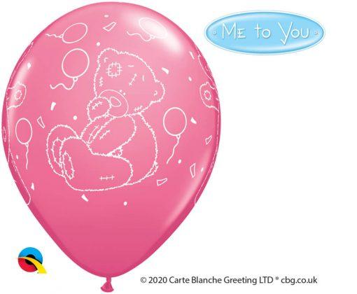 "11"" / 28cm Tatty Teddy Balloons Asst of Pale Blue, Purple Violet, Rose Qualatex #12557-1"