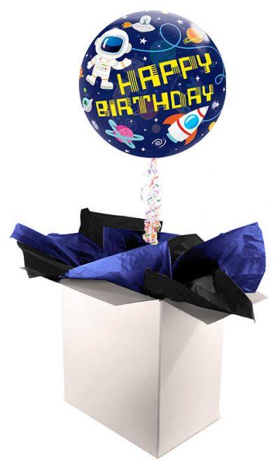 "22"" / 56cm Poczta Balonowa Premium Kosmiczna z Balonem Bubbles #Bubbles Kosmiczna Premium"