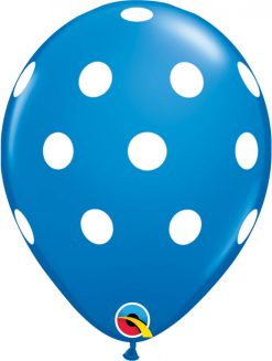 "11"" / 28cm Big Polka Dots Standard Asst Qualatex #17316-1"