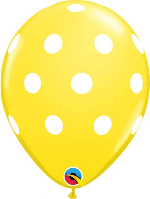 """11"""" / 28cm Big Polka Dots Standard Asst Qualatex #17316-1"""