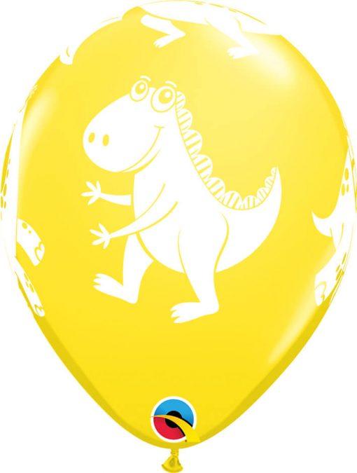 """11"""" / 28cm 6szt Cute & Cuddly Dinosaurs Retail Asst Qualatex #17945"""